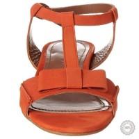 Oranžinės odinės basutės Emma Go #4