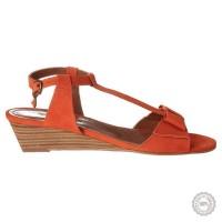Oranžinės odinės basutės Emma Go #5