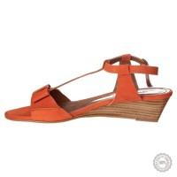 Oranžinės odinės basutės Emma Go #6