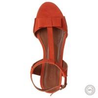 Oranžinės odinės basutės Emma Go #7