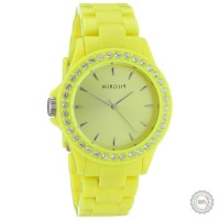 Geltonas moteriškas laikrodis Pilgrim